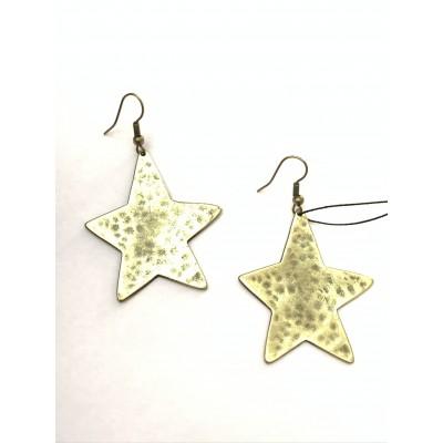 Orecchini stella Pendente in Bronzo
