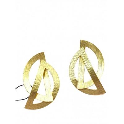 Orecchini Pendenti in Ottone Bagnato in Oro
