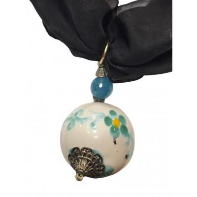 Collana in Ottone e Ceramica di Vietri