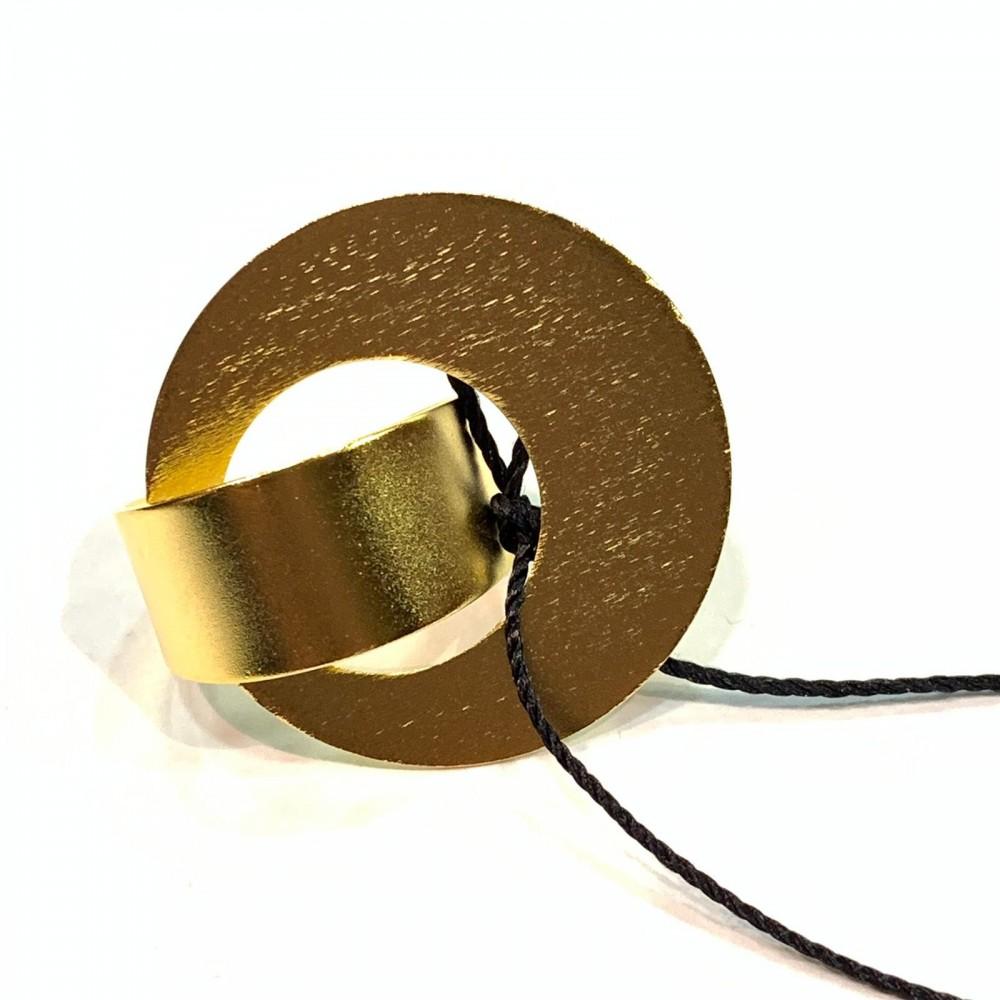 Anello in Ottone Bagnato in Oro